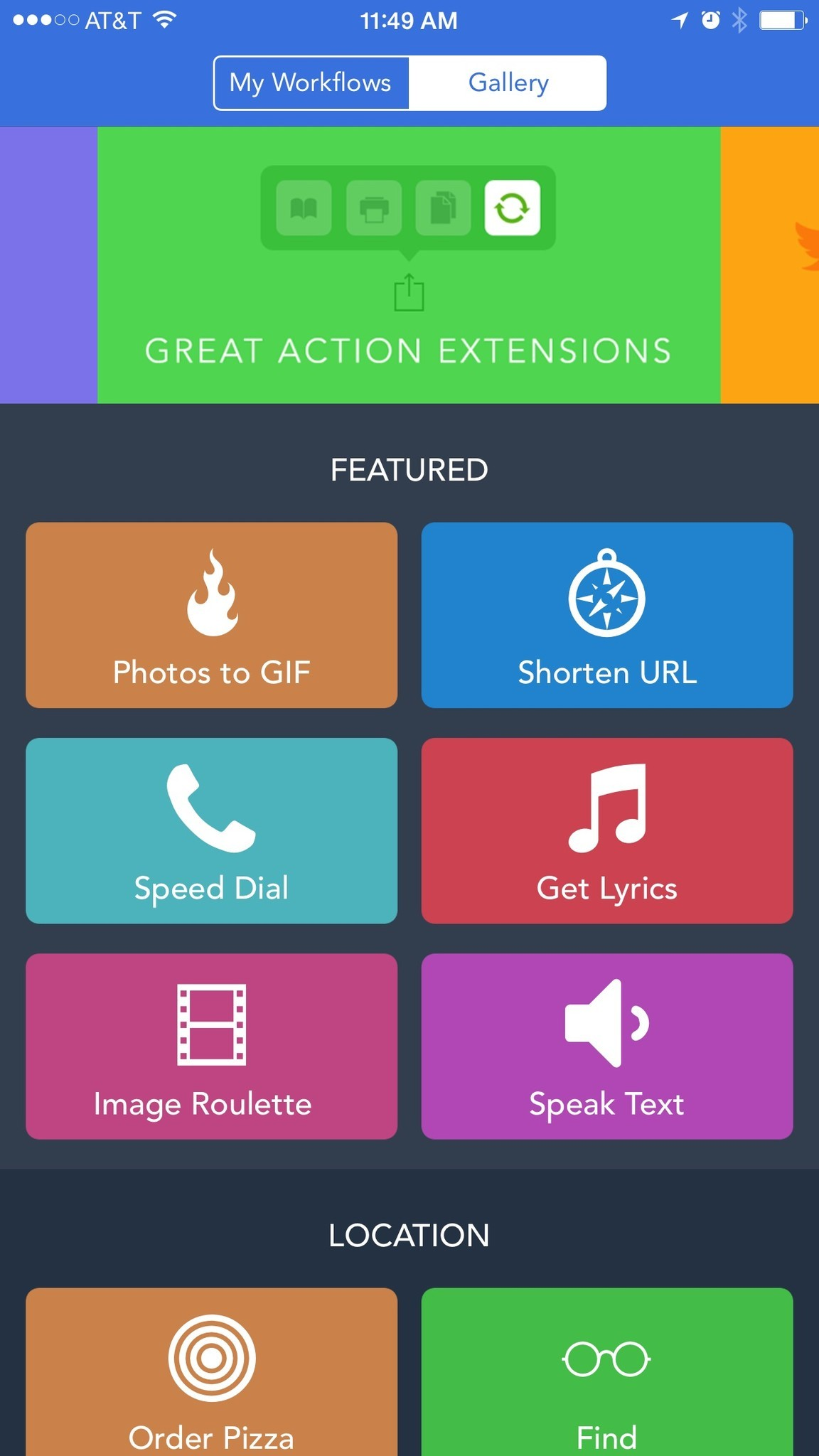 Amazing action extensions for iPhone: Workflow