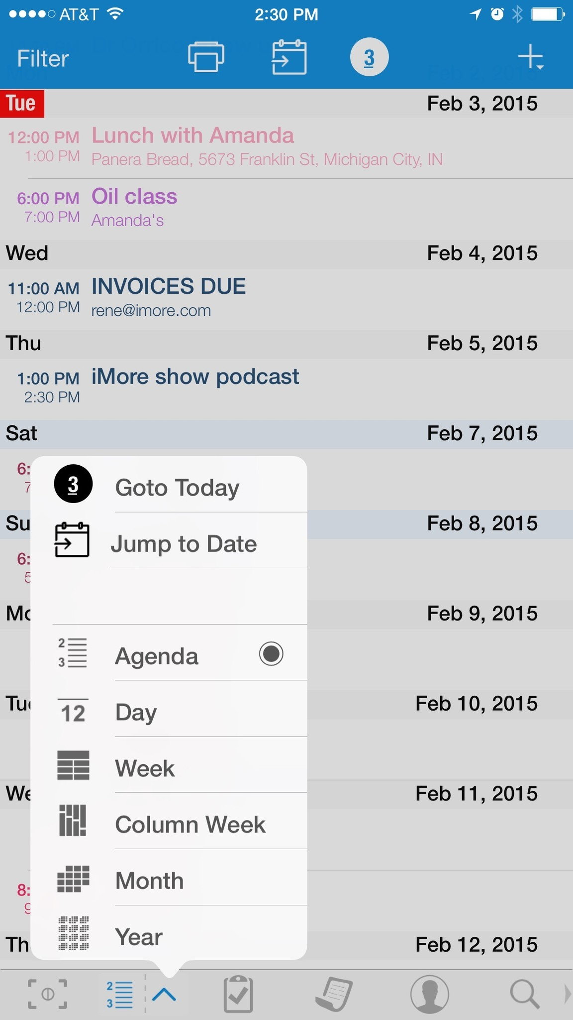 Best calendar apps for iPhone: Pocket Informant