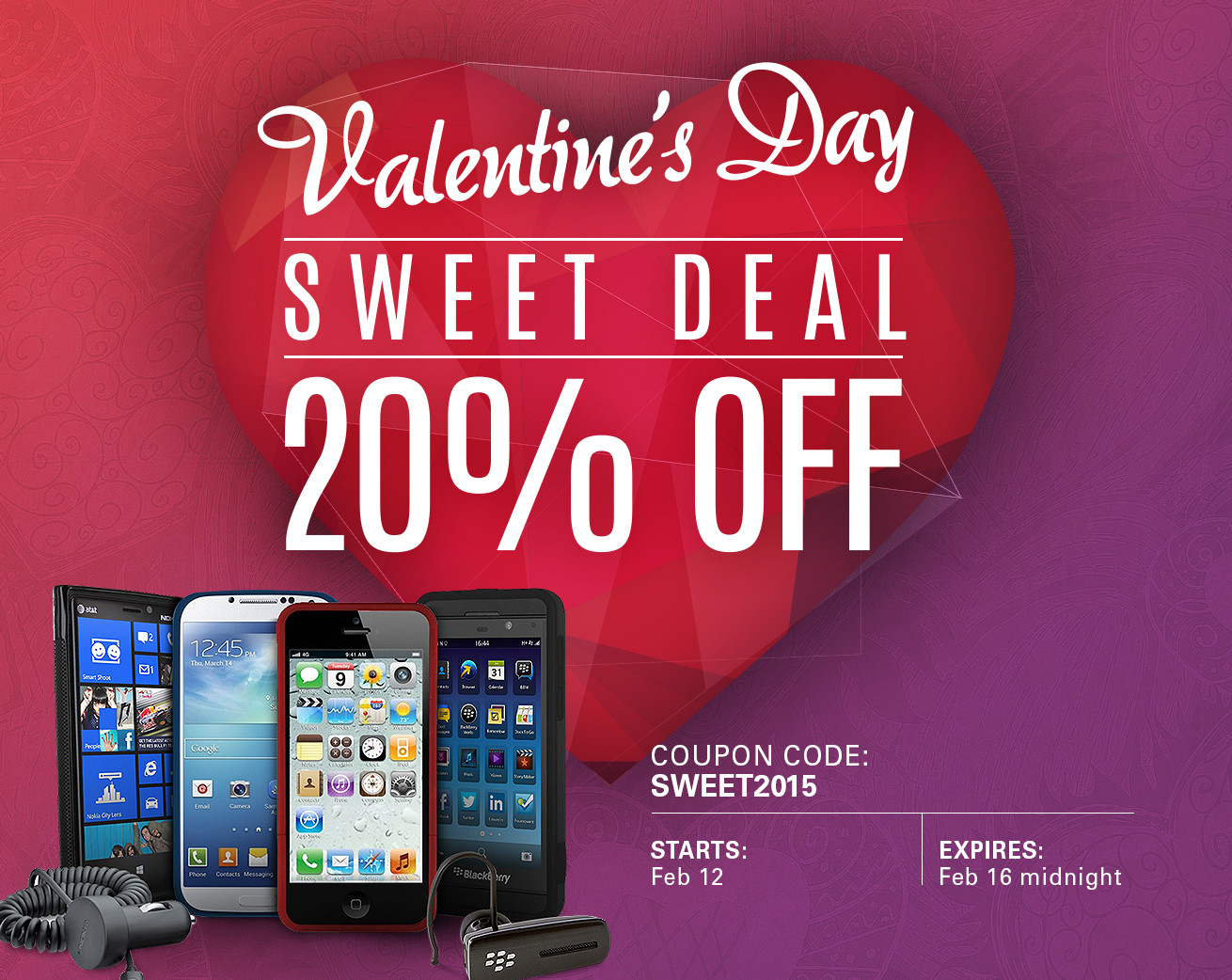 Valentineu0027s Day Sale: 20% Off All IPhone And IPad Accessories!