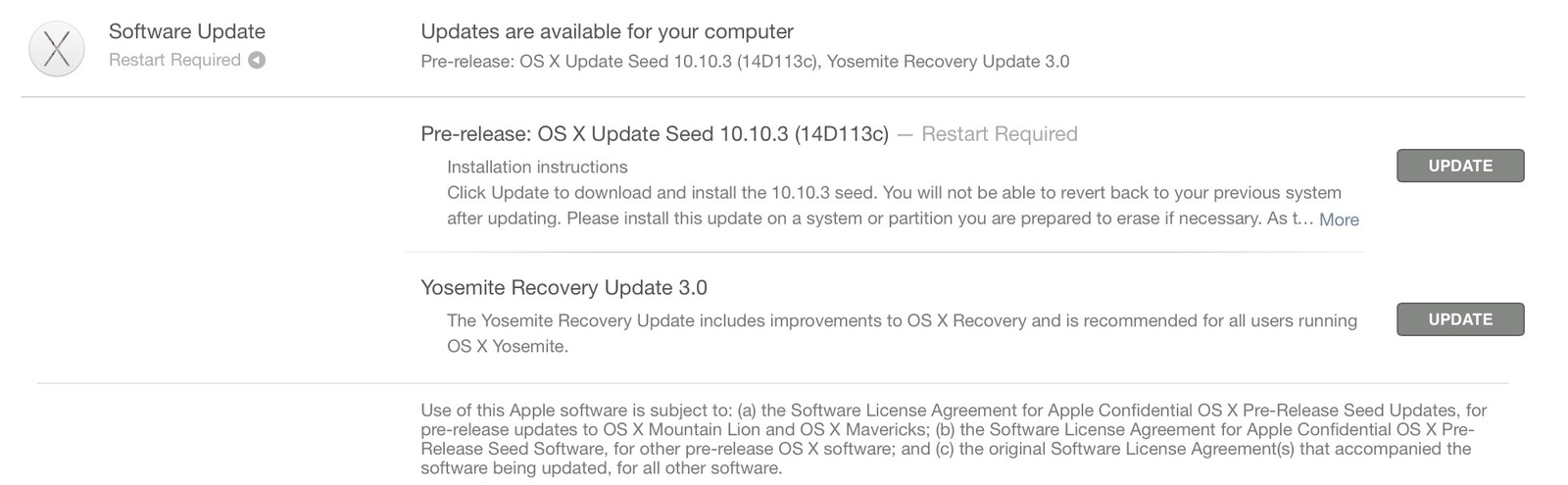 OS X 10.10.3 new seed