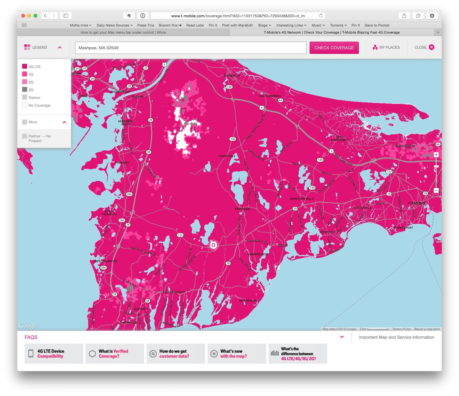 T-Mobile\'s coverage map doesn\'t look more accurate to me | iMore