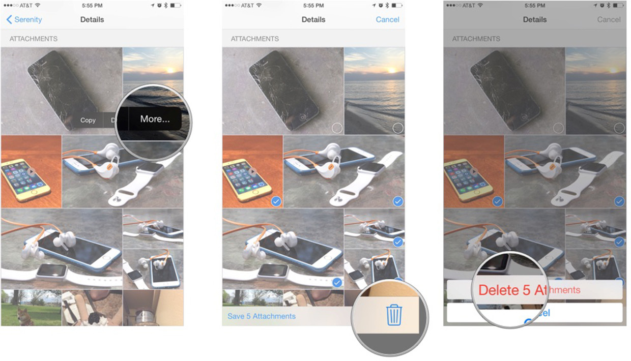 How to delete multiple photos and videos at once in Messages for iPhone and iPad