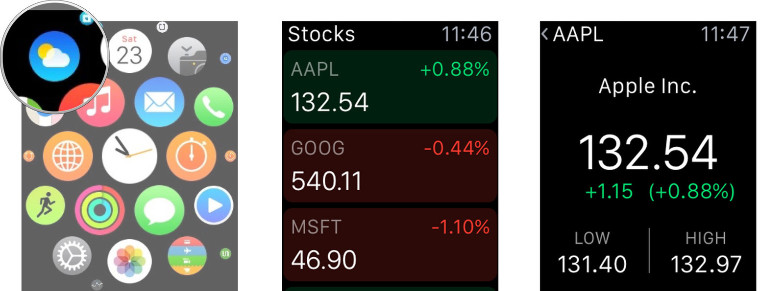 how to check stocks on your apple watch imore