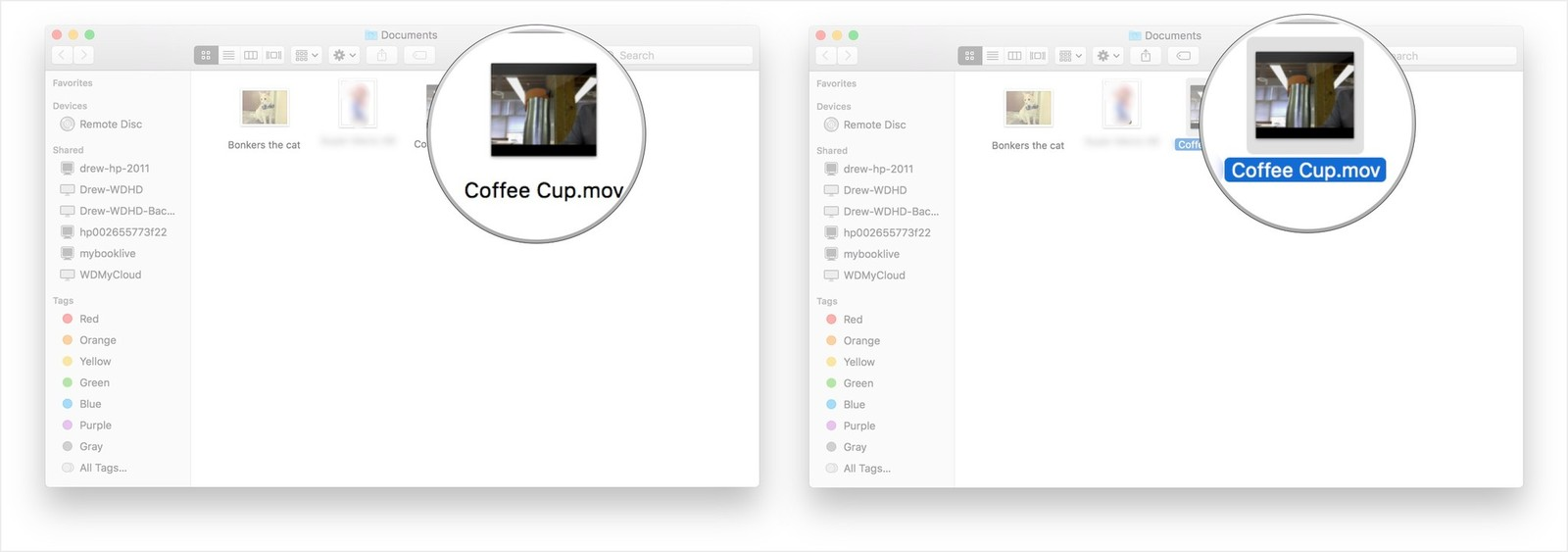 how to find videos on iphoto mac