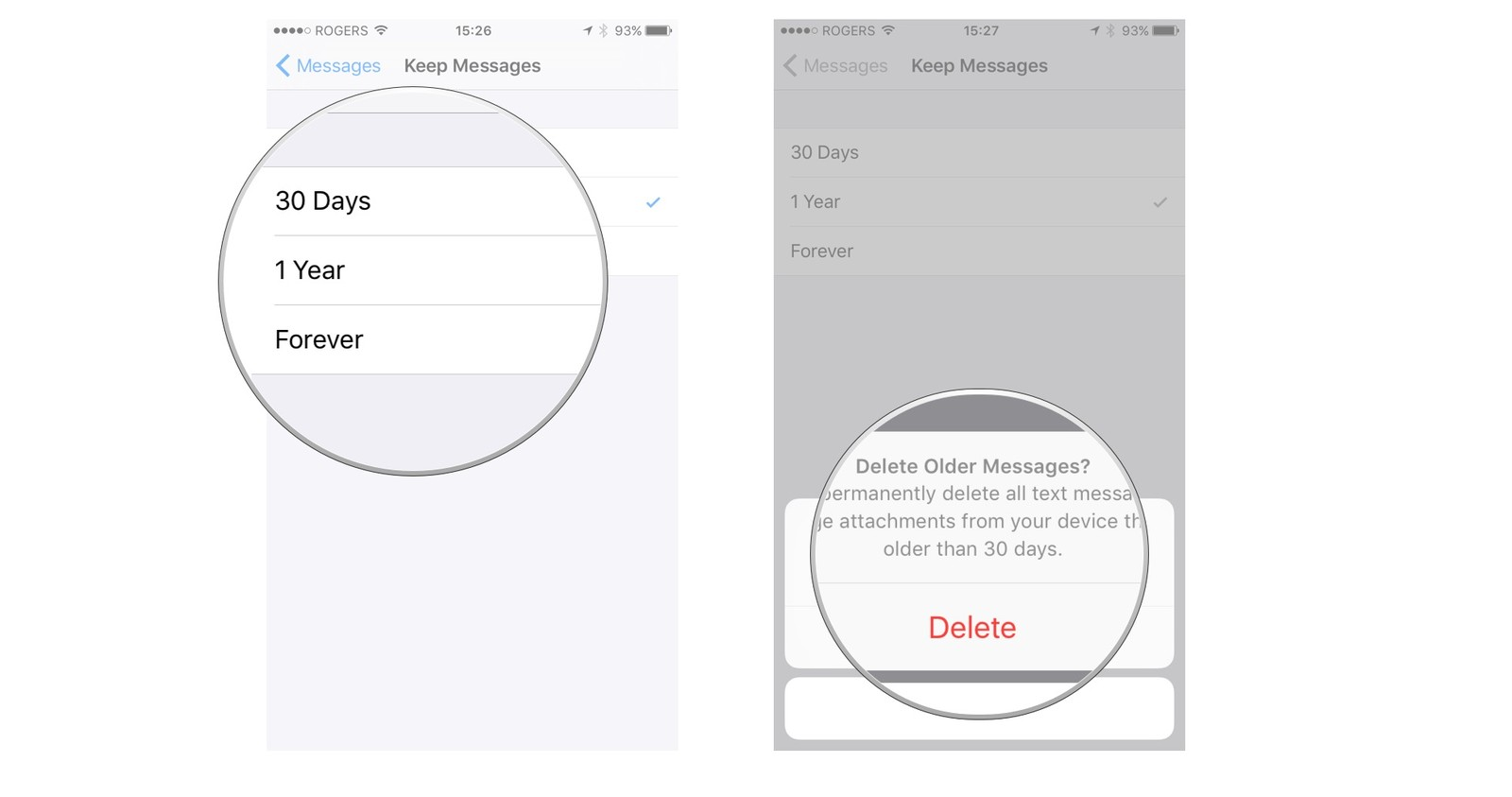 How to delete imessages on iphone and ipad imore select option then tap delete ccuart Gallery