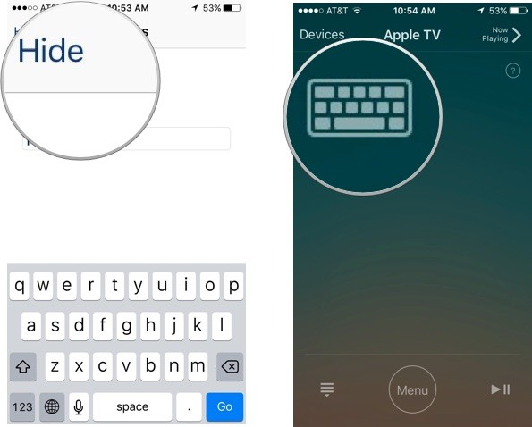 Keyboard on the Remote app