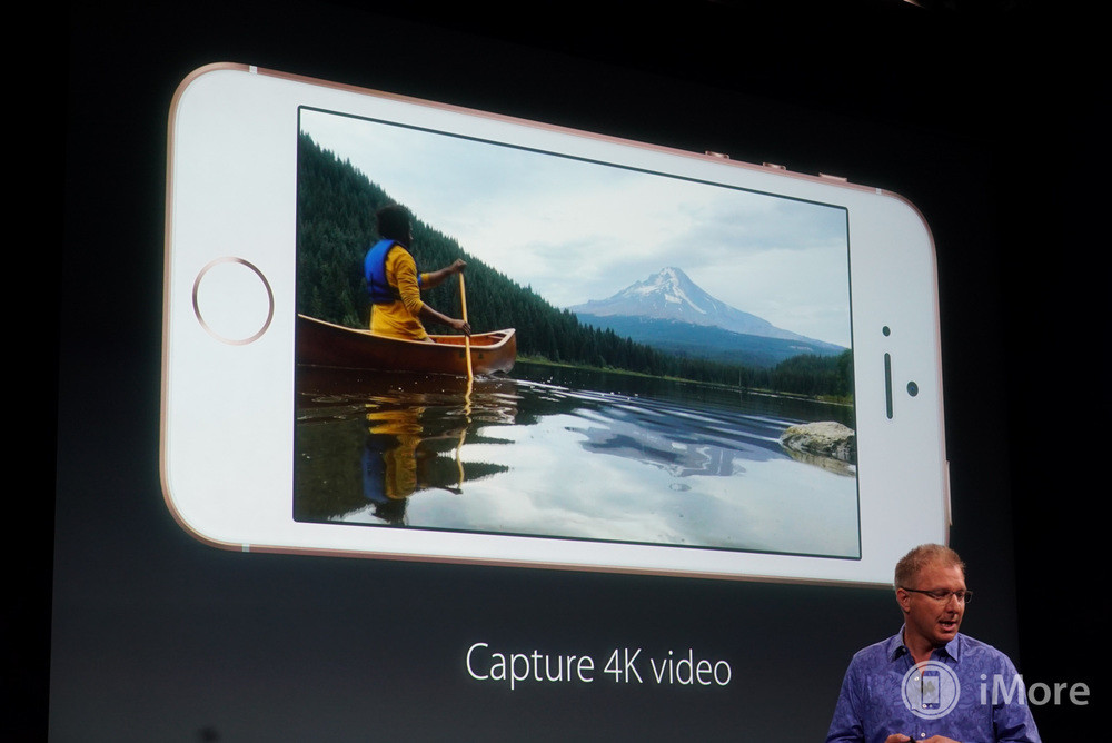 iPhone SE with 4K video