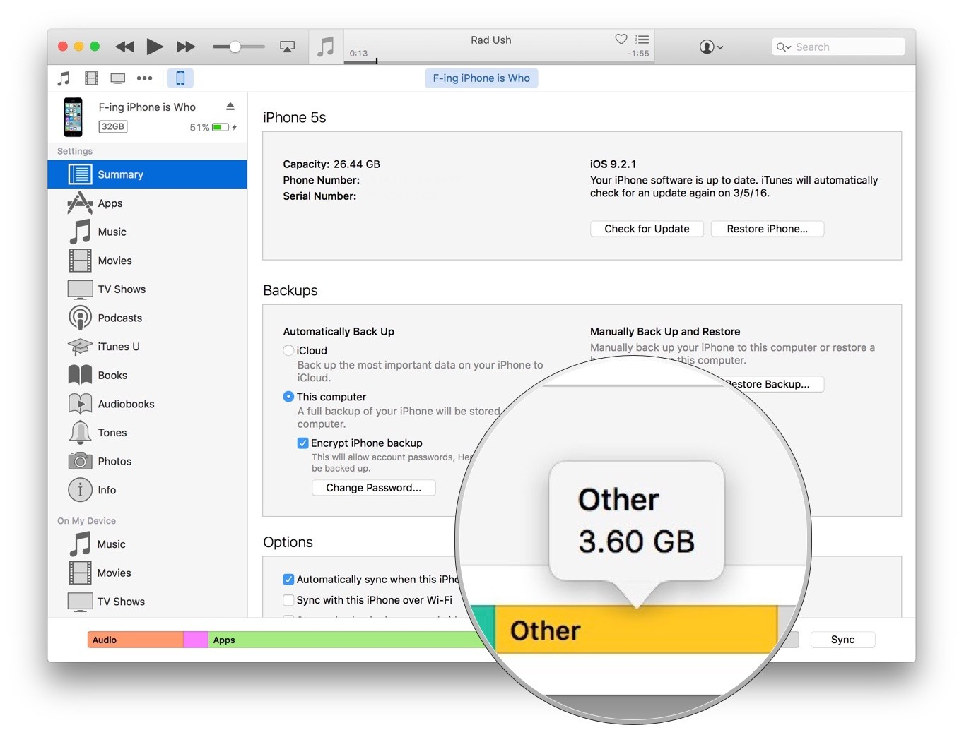 How to reduce other storage on macbook air