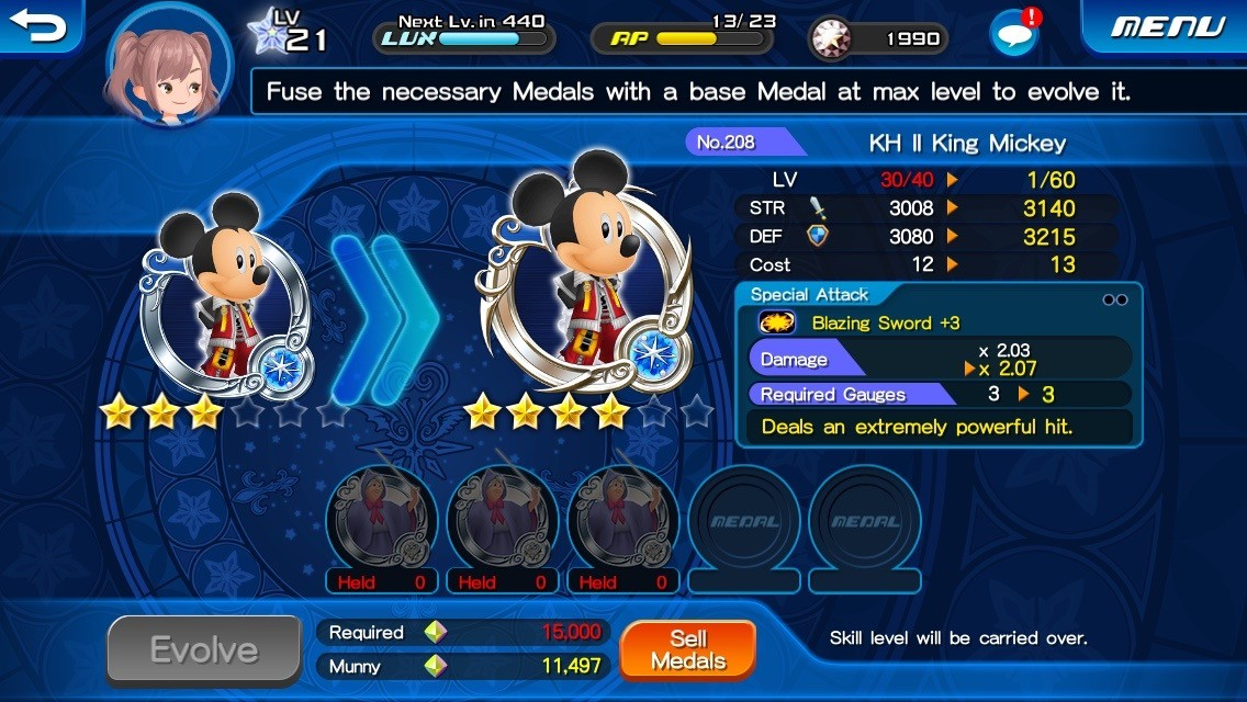 kingdom hearts key how to make your medals.stronger