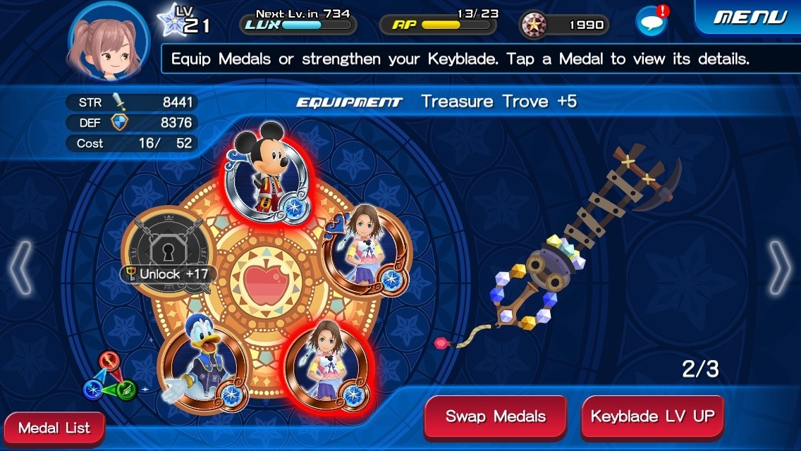 Like medals in Kingdom Hearts Unchained X