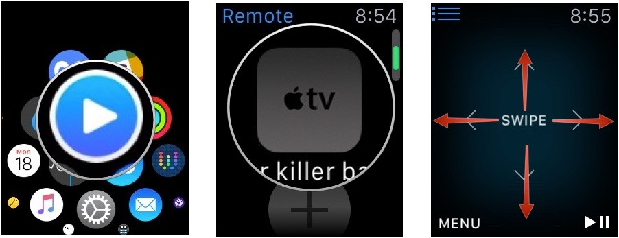 Using the Remote app on Apple Watch