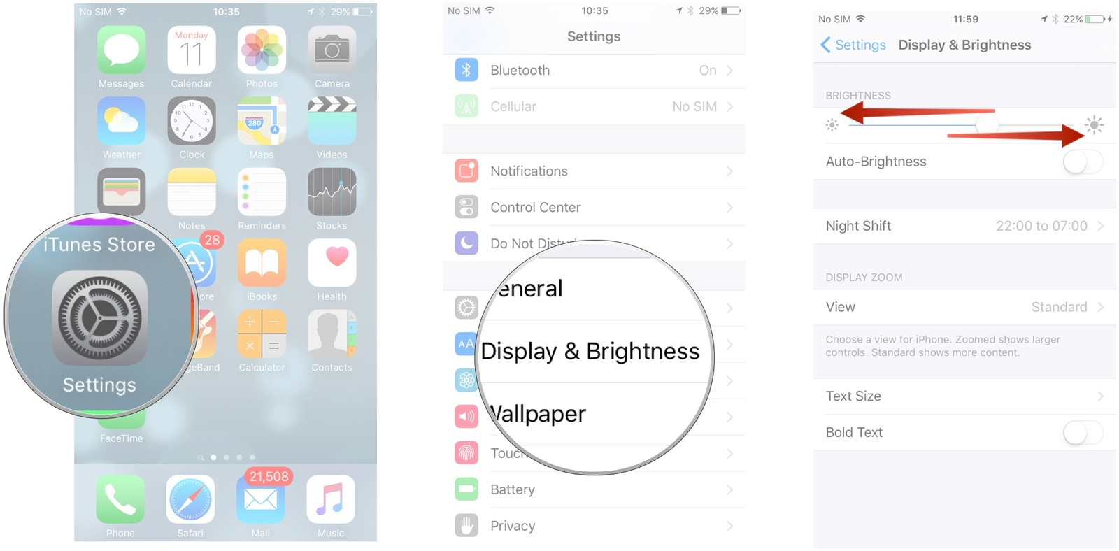 How to make the screen brighter 89