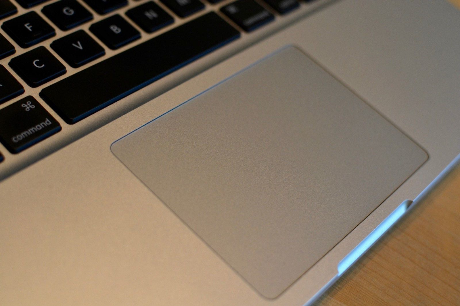 The trackpad on the Mac
