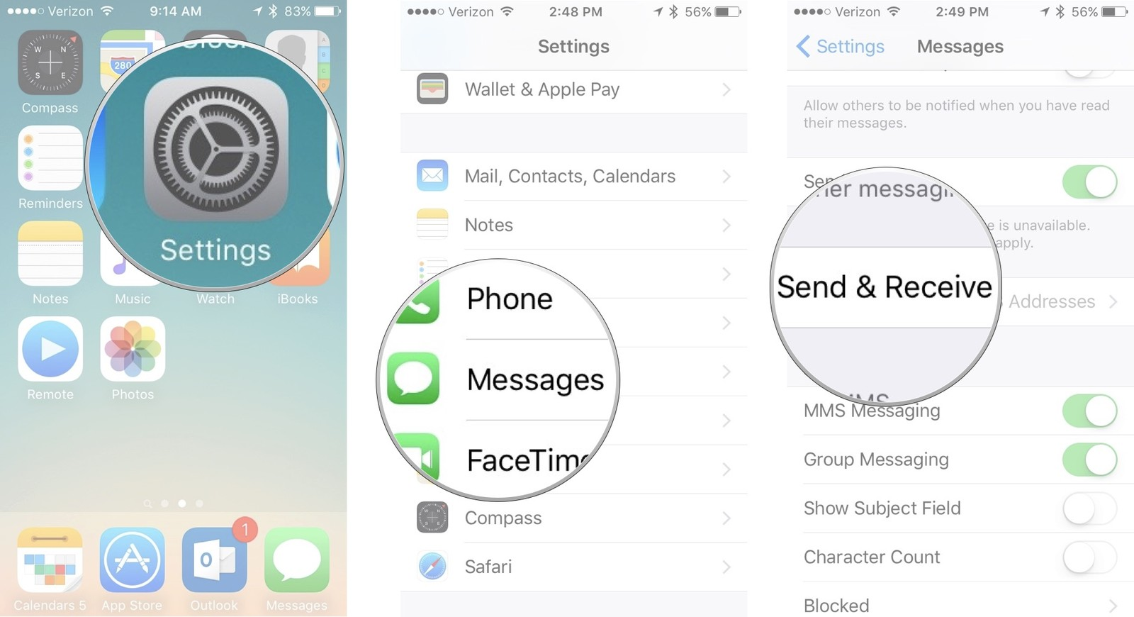 read text messages with apple id