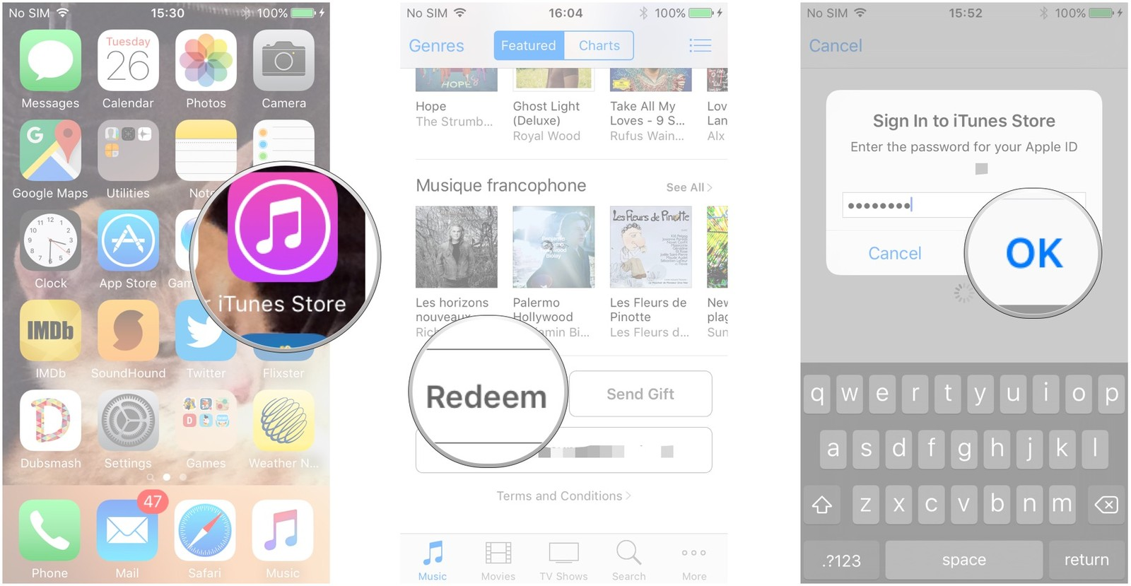 How to use itunes card instead of credit card