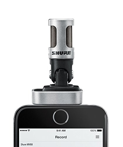 The Sure MV88 microphone.