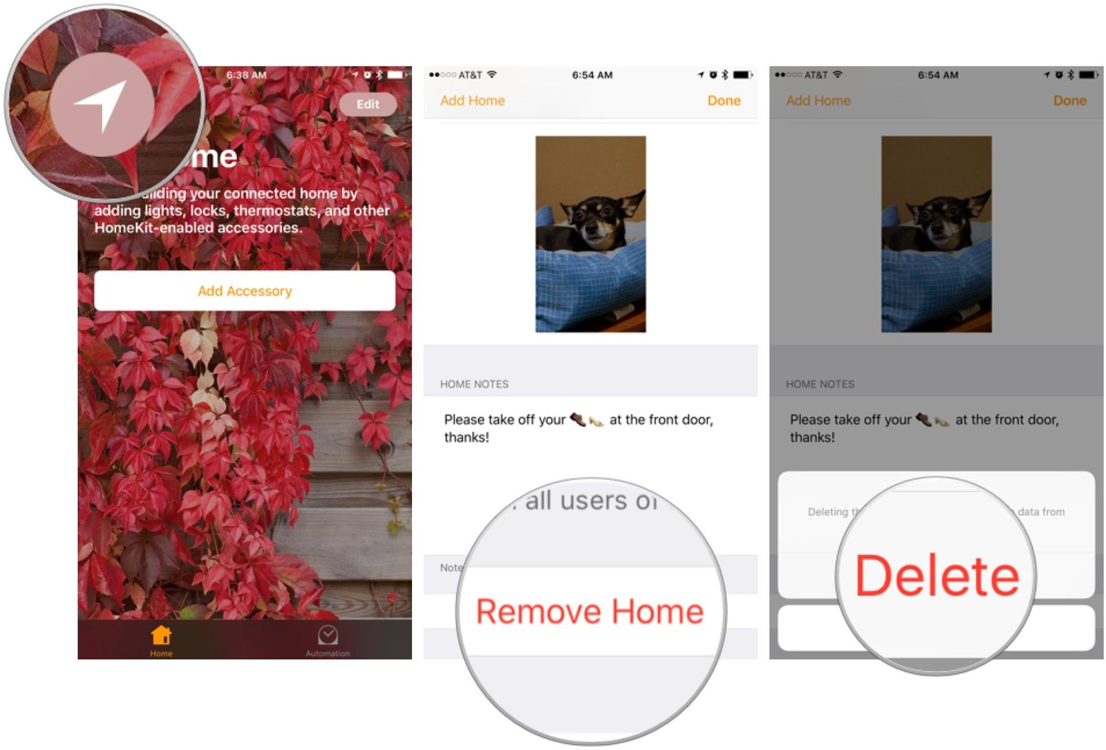 How to remove a home in iOS 10 Home.