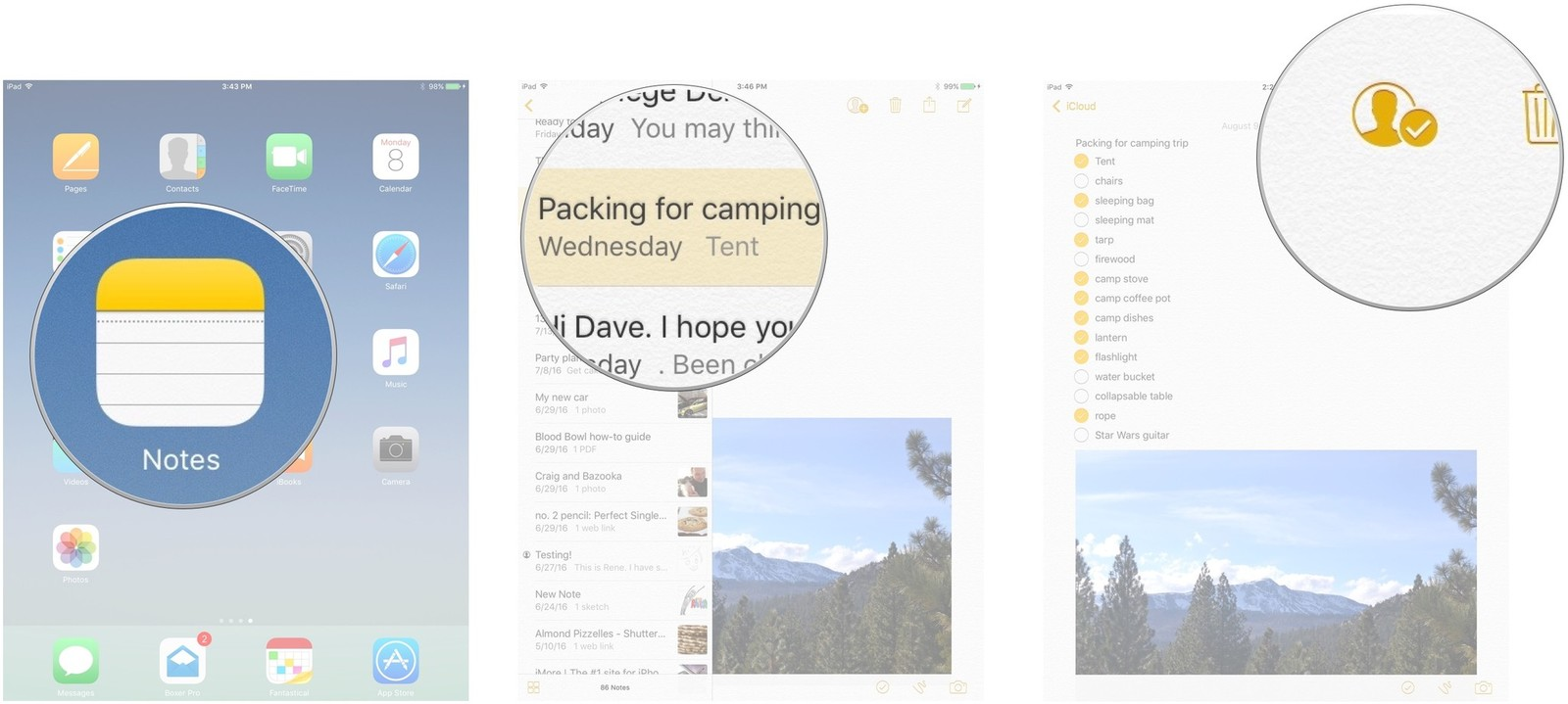 How to collaborate with others in the notes app on iphone and ipad removing access in the notes app buycottarizona Gallery