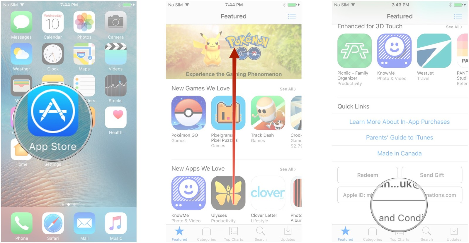 Launch the App Store, scroll to the bottom