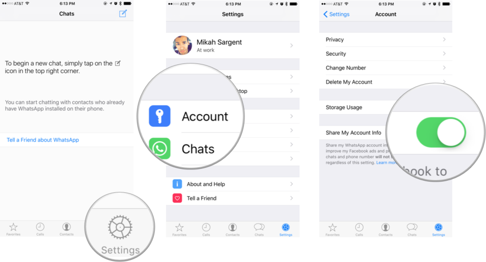 How to stop WhatsApp from sharing your number with Facebook.