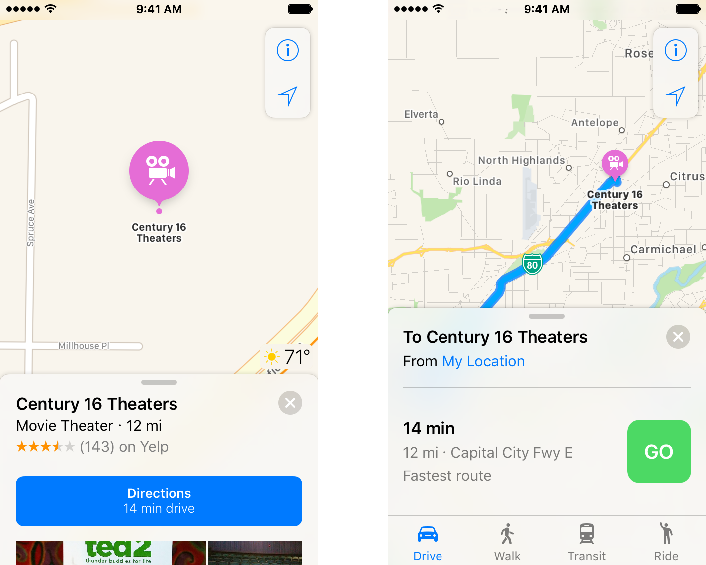 Maps with voice navigation