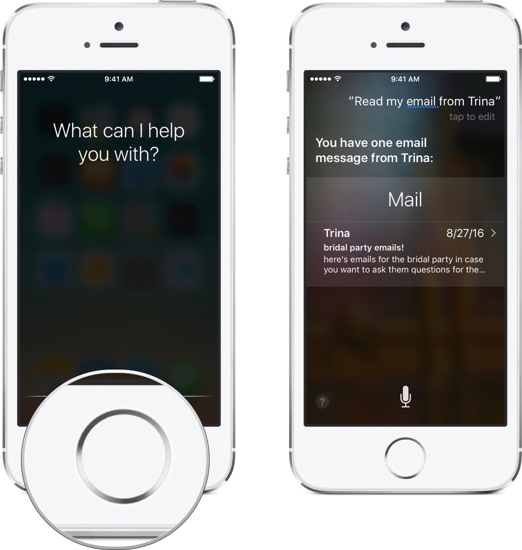 Ask Siri to read your email