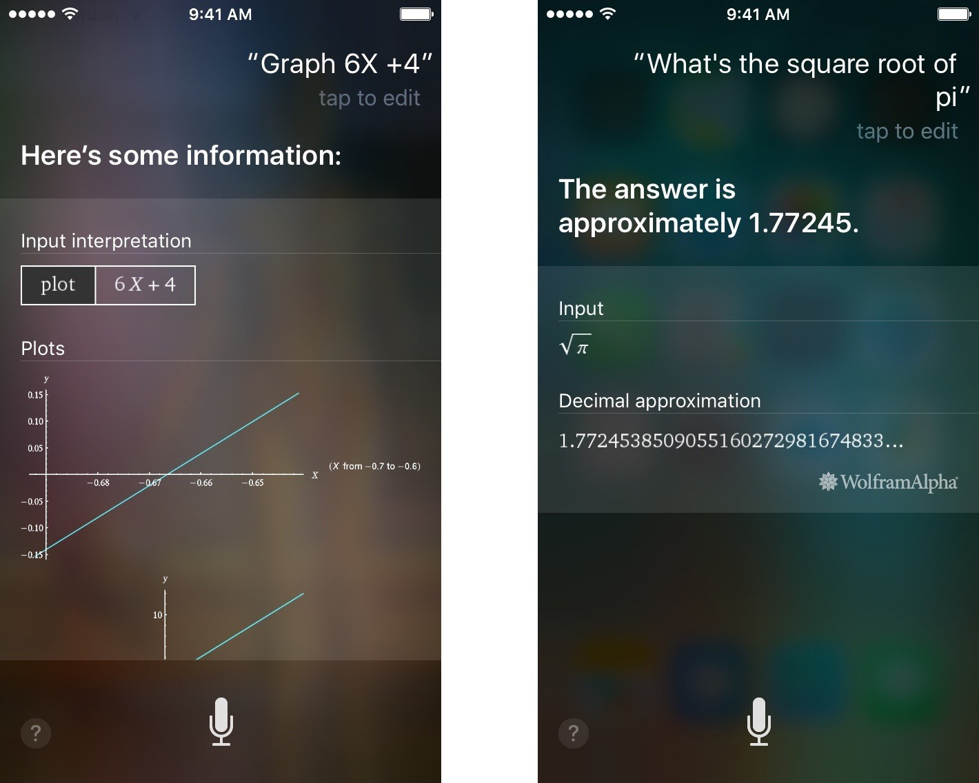 Siri can answer complex equations