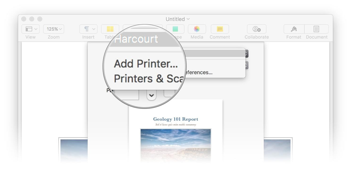 How to install hp printer on mac air