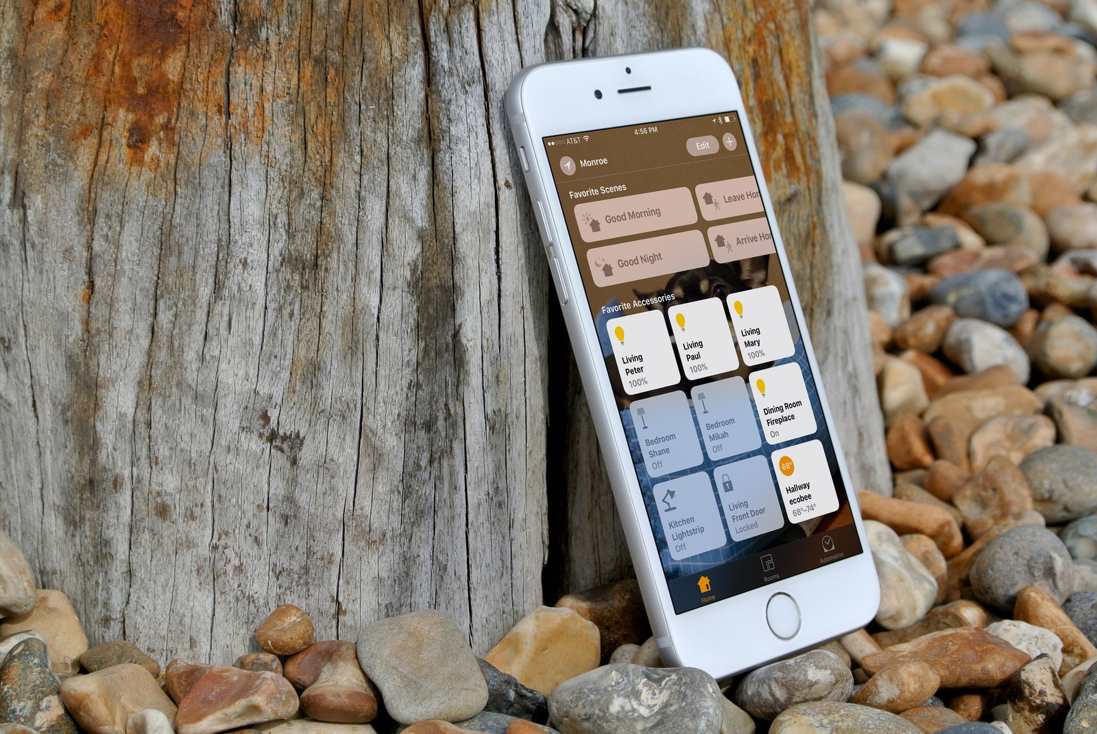 Set Your Favorite Scenes And Accessories In The IOS Home App.