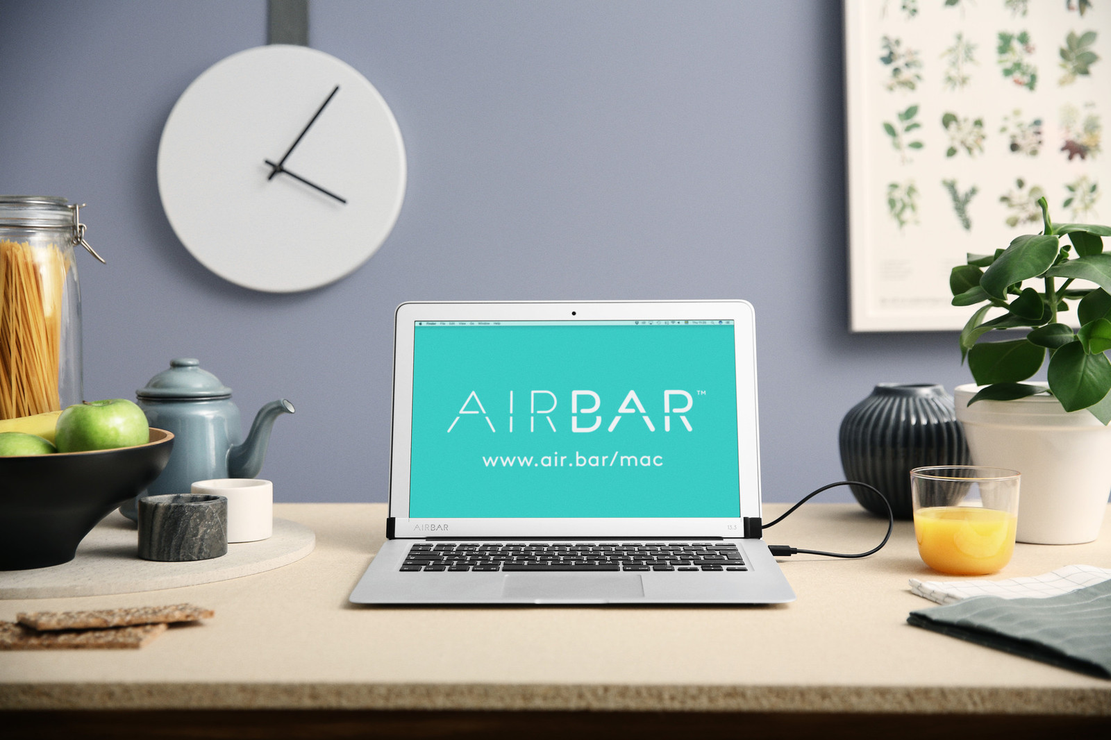 AirBar on MacBook Air