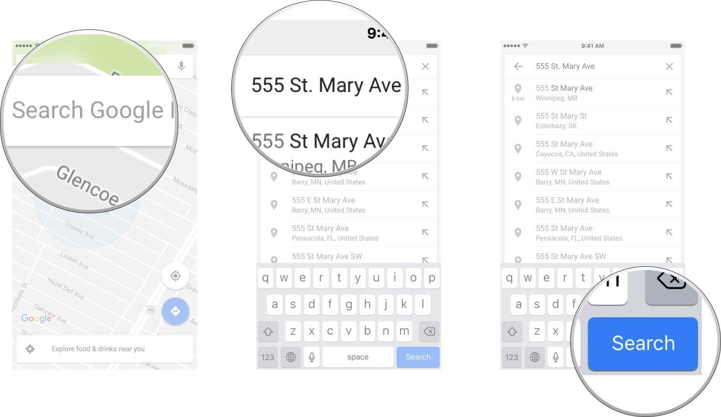 how to get transit bicycle and walking directions with google maps for iphone and ipad