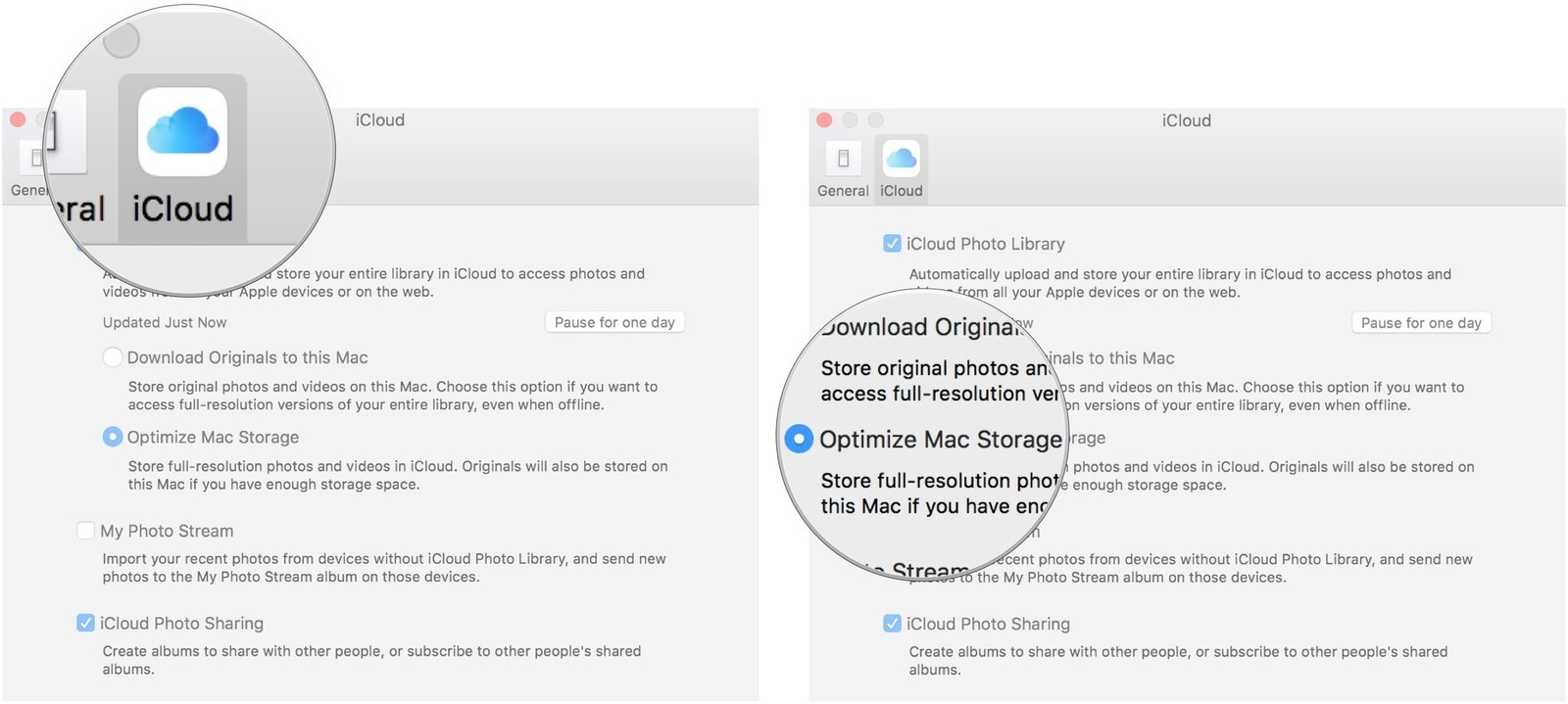How to see my photos in icloud photo library