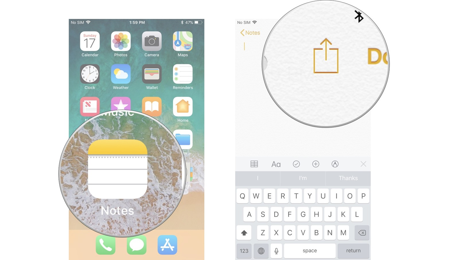 How to add lines and grids to a note in the Notes app on