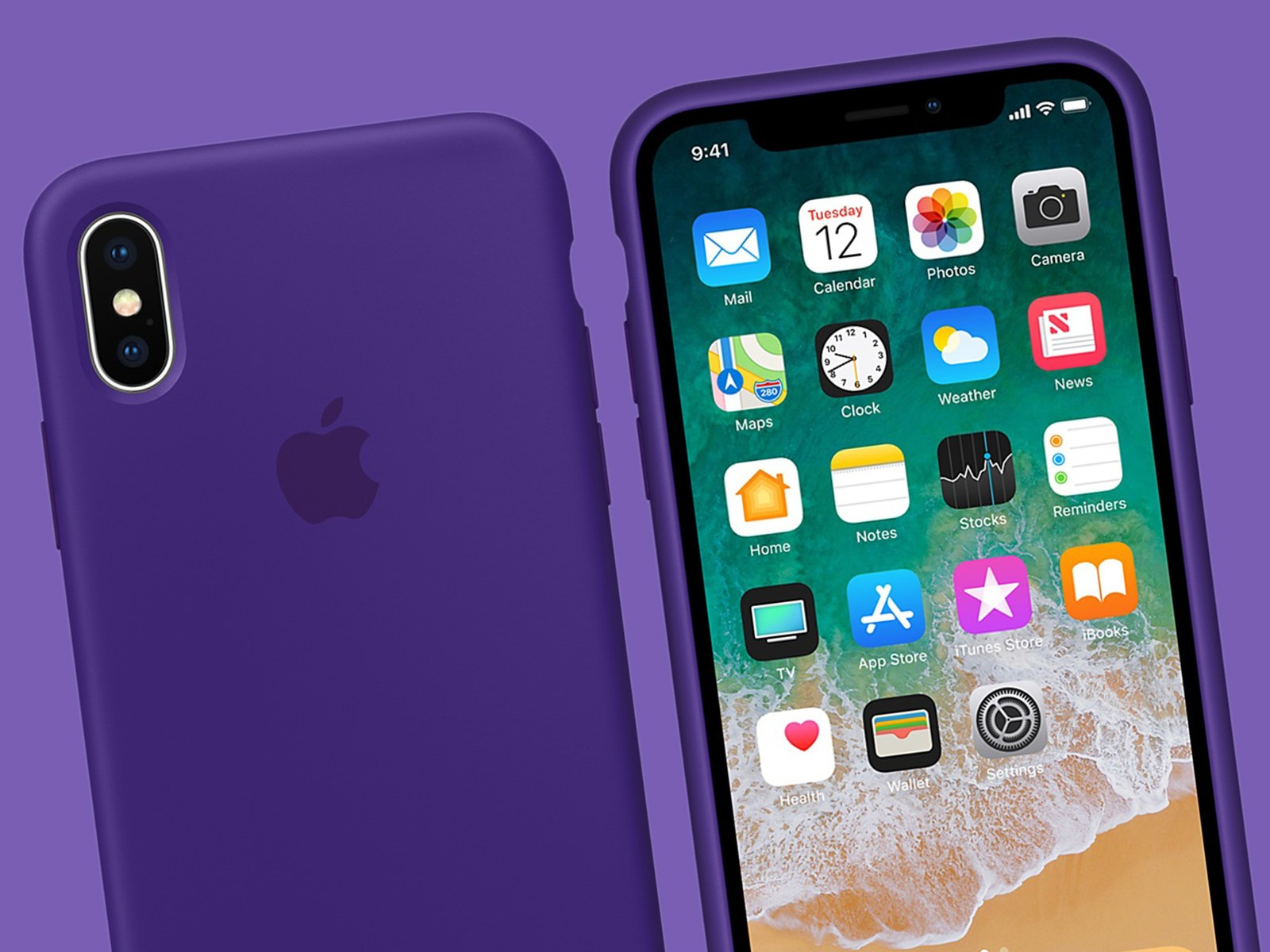 Apples New IPhone X Is Shown Wrapped In The Companys Ultra Violet Silicone Case