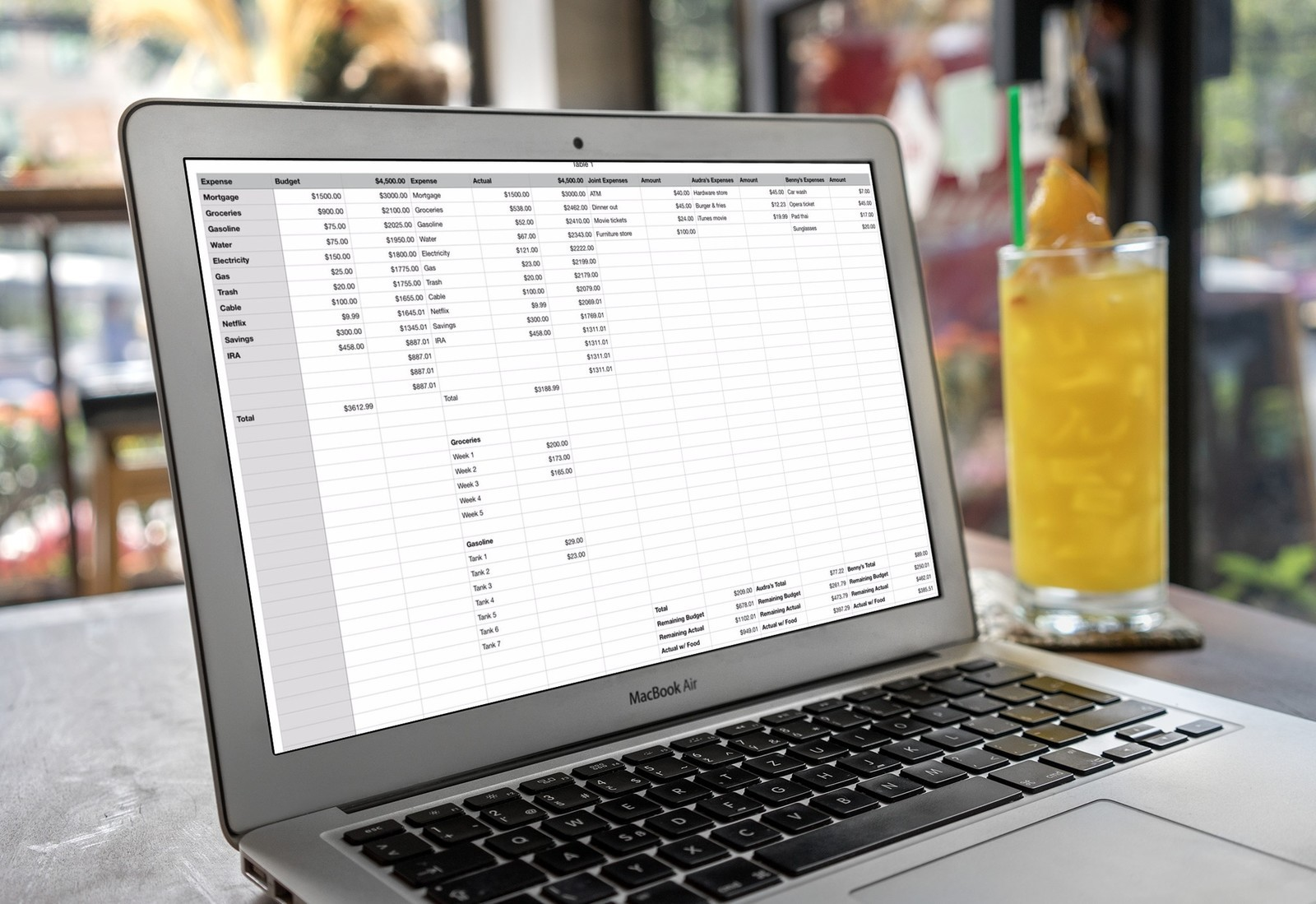 Budgeting with Numbers on Mac
