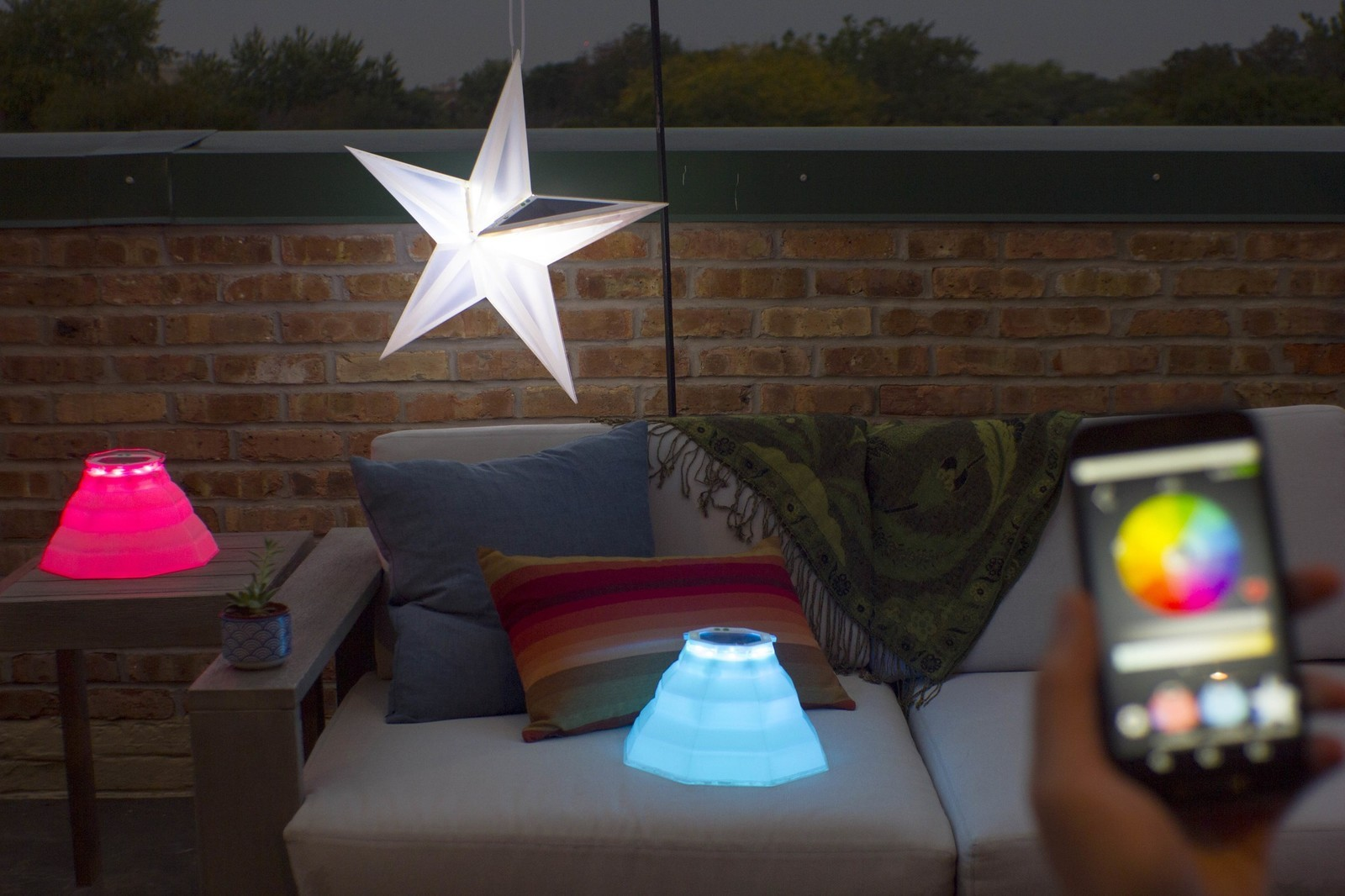 revitalize any outdoor area with colorful solar lights controlled