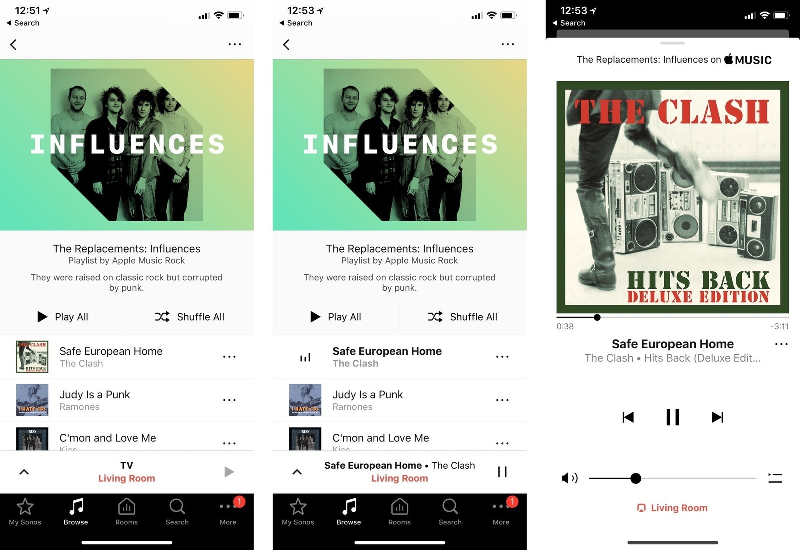 How to play Apple Music and Spotify songs and playlists on
