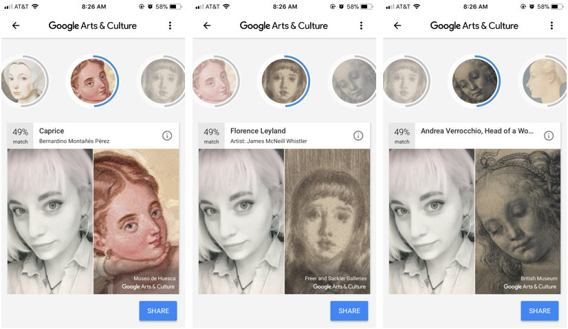 How do you take pictures on google arts and culture
