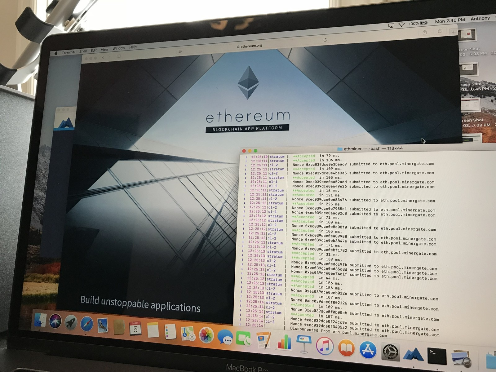 How to mine ethereum with your macbook and egpu graphics adapters digital currency like bitcoin is no longer the sole parlance of informed netizens and is becoming mentioned more and more on mainstream information outlets ccuart Choice Image