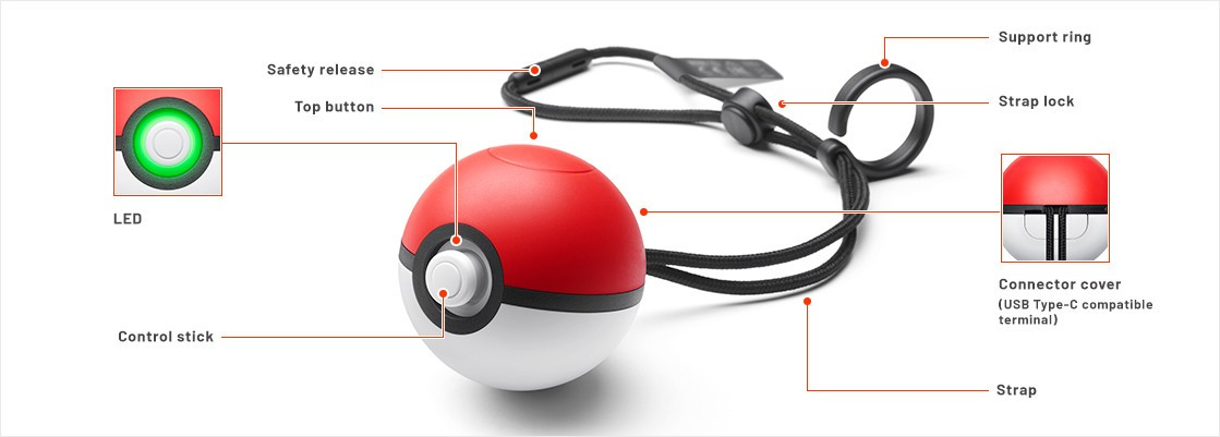 Youll Be Able To Play Pokmon Lets Go Pikachu Eevee And PokMon GO With A Real Pokball You Can Pair It Your Switch