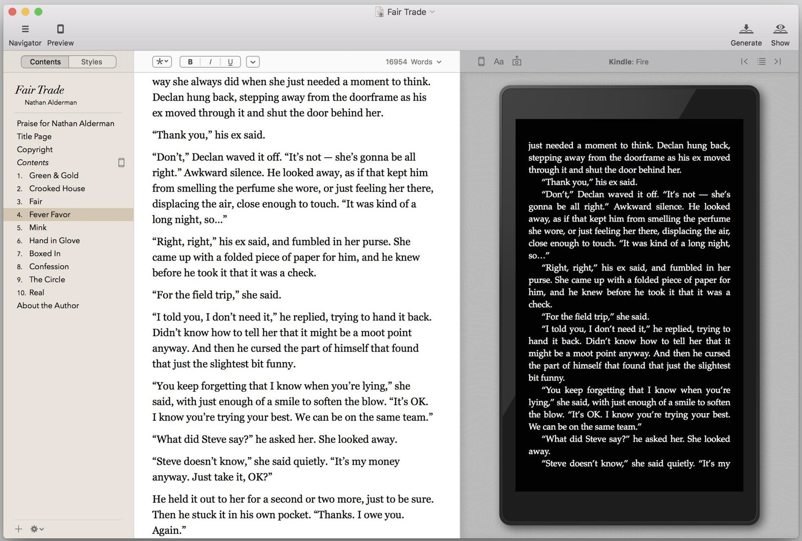 An instantly updated preview pane shows you how your book will look on numerous popular devices.