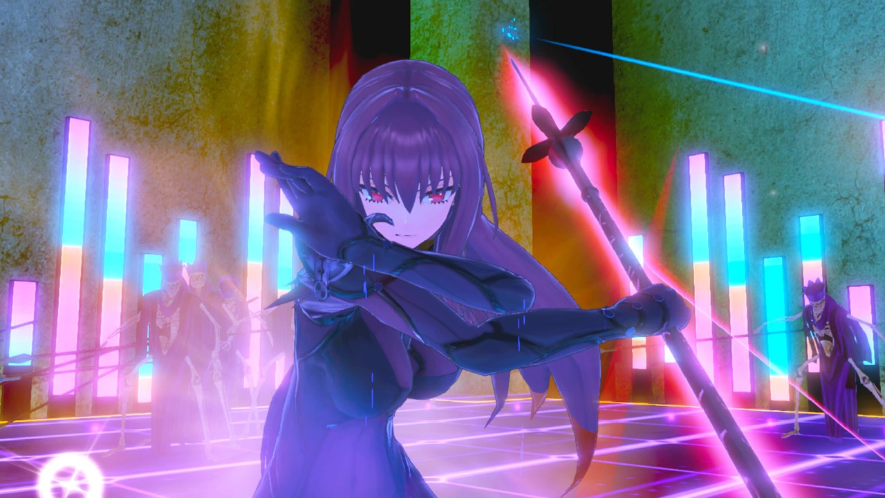 Fate/EXTELLA LINK evil looking girl carrying staff