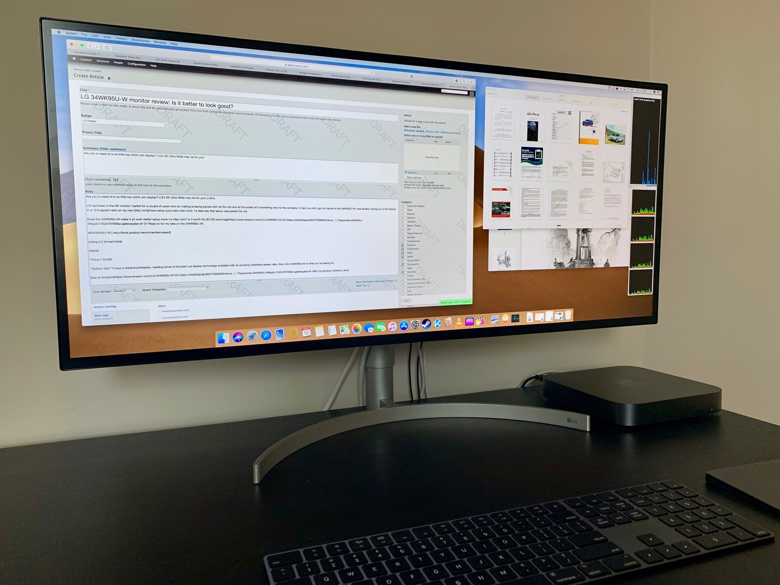 LG 34WK95U-W monitor review: Is it better to look good? | iMore
