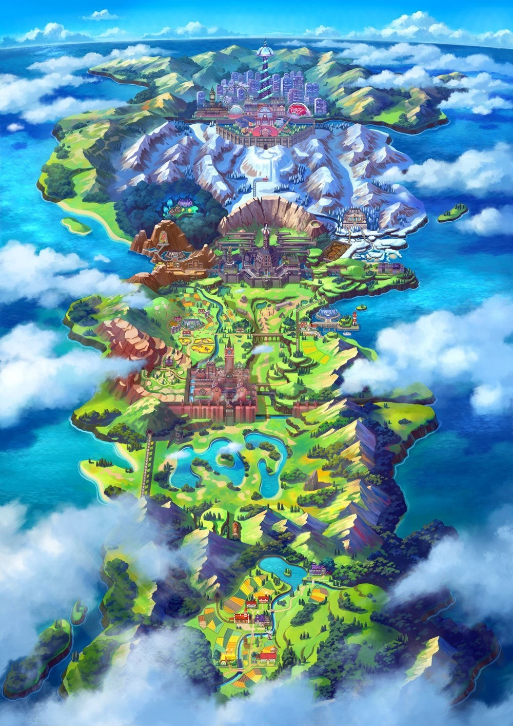 How big is the world map in Pokemon Sword & Shield? | iMore