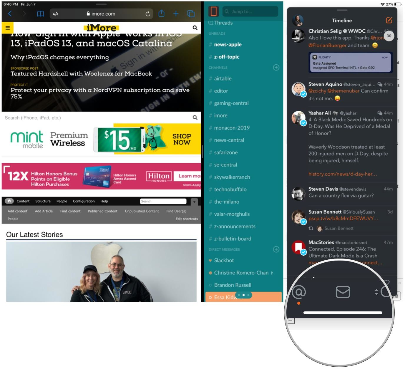 How to use App Exposé and split-screen apps in multiple