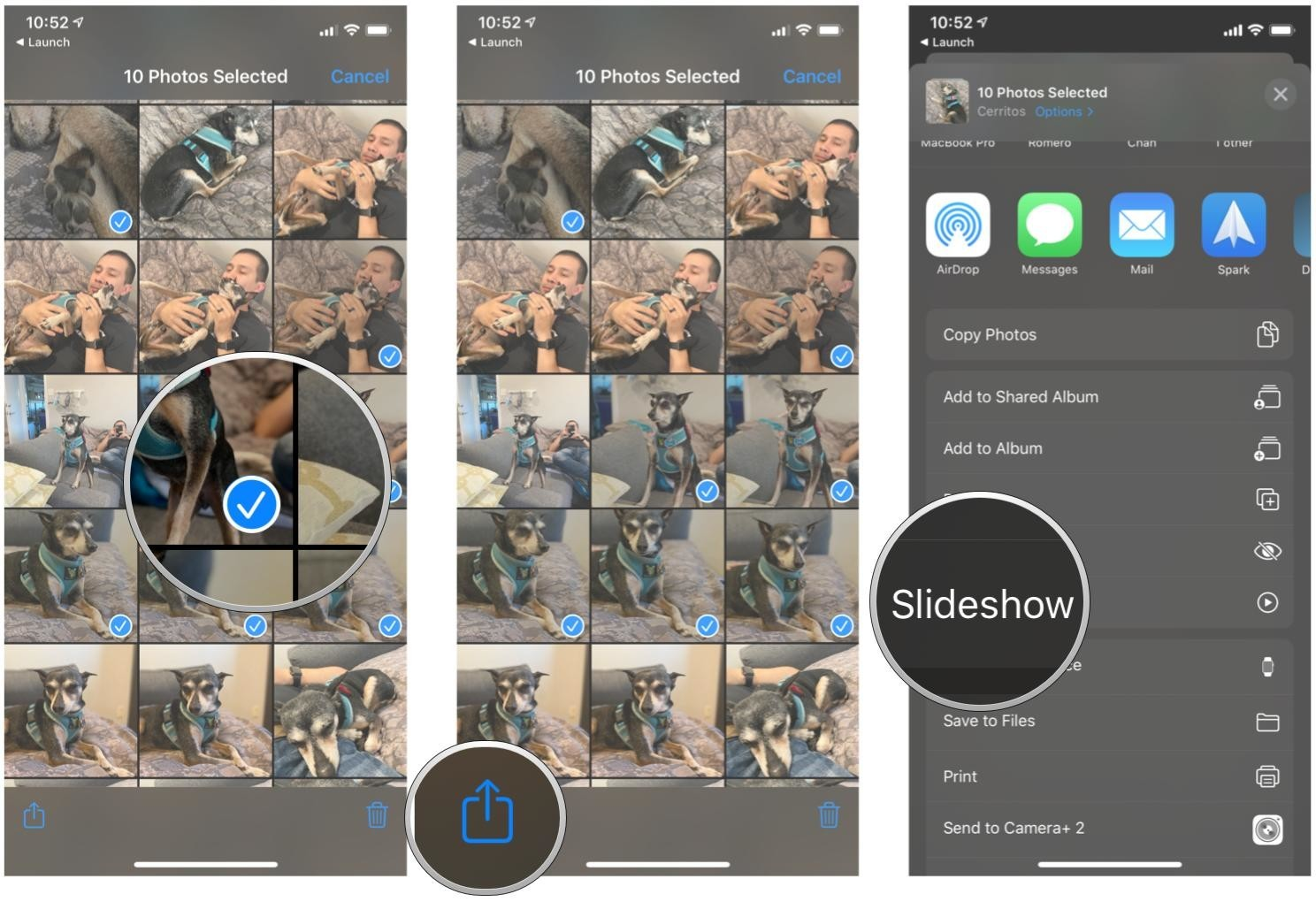 How To Use The Photos App To For Slideshows Setting Wallpaper And Contact Pics Imore
