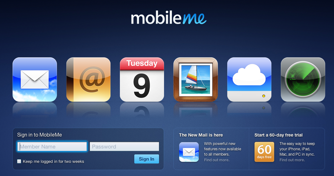 MobileMe web apps back online with updated mail UI, app switcher | iMore