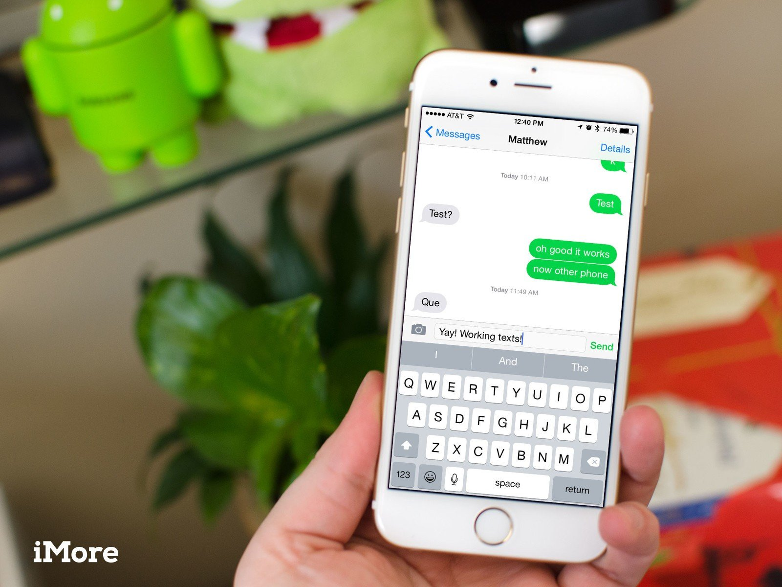 Why can't I send regular text messages on my iPhone 6 or 6 Plus?