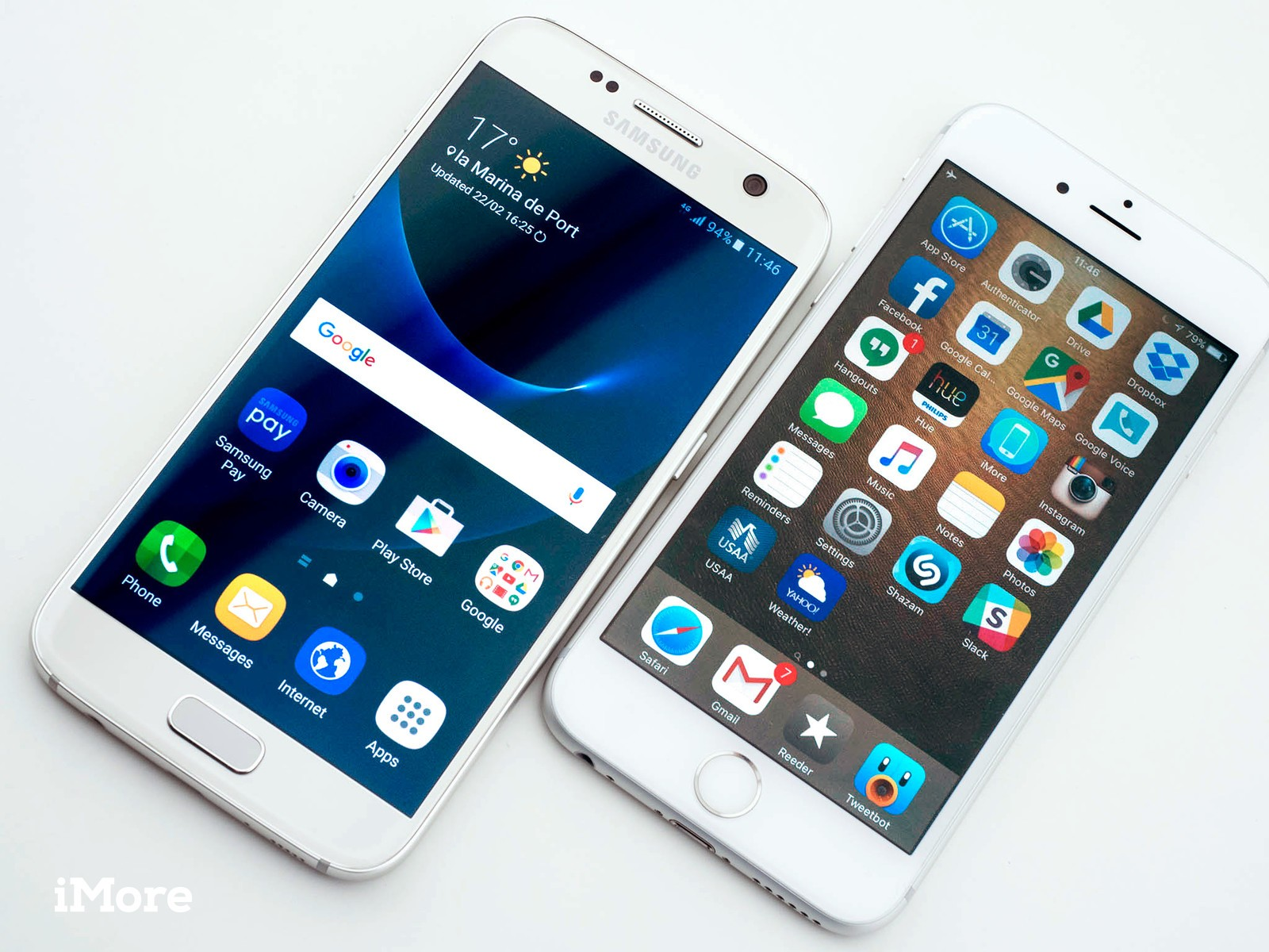Galaxy S7 and iPhone 6s
