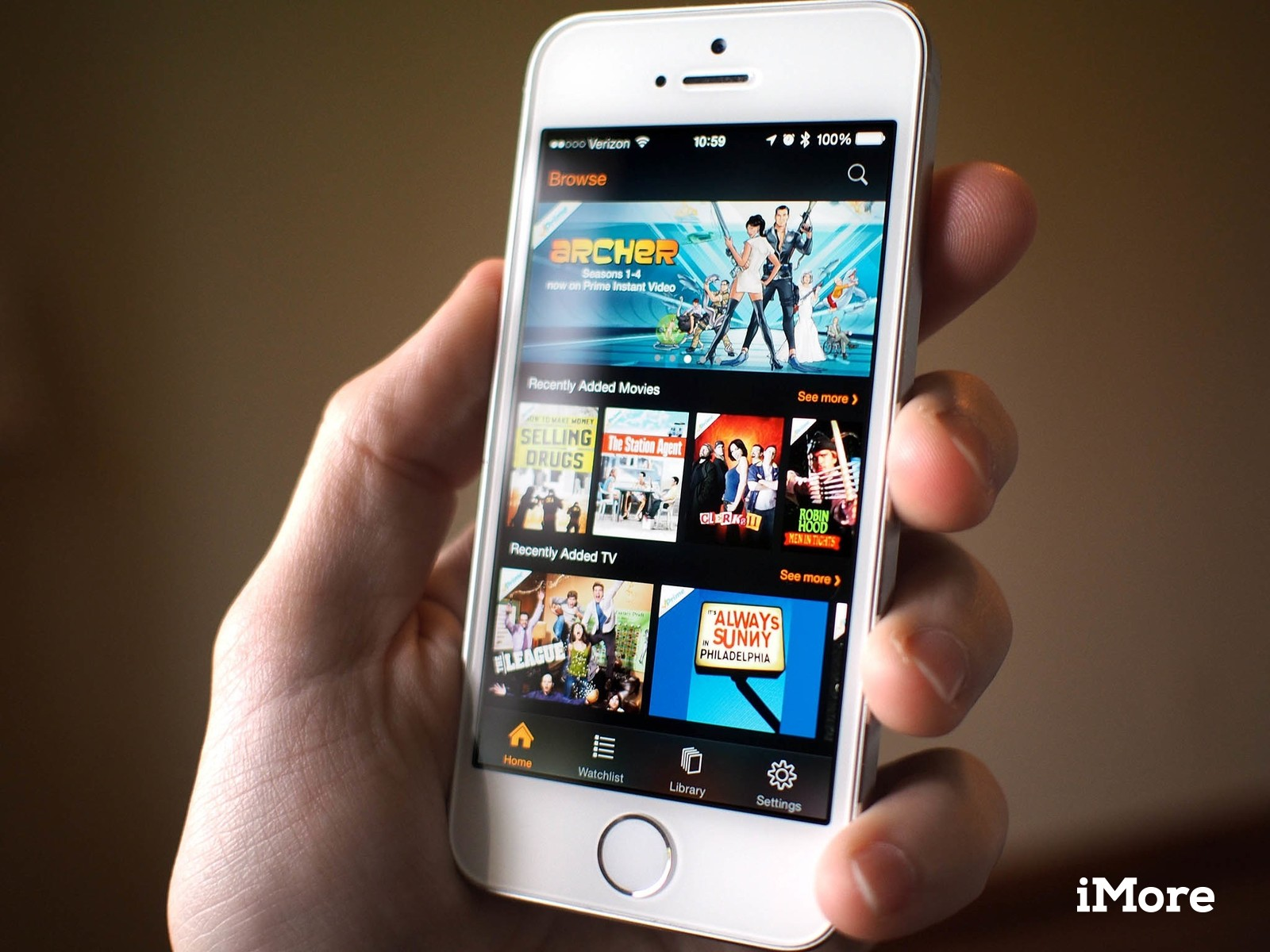 Amazon Instant Video on an iPhone 5s